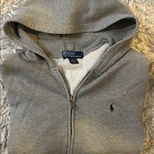 Polo RL gray men's hoodie